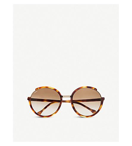 LOEWE SLWA46 Lea round-frame sunglasses (Havana