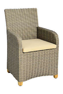 INDIAN OCEAN Carlisle woven carver chair