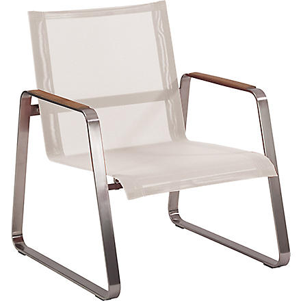 INDIAN OCEAN Plaza low armchair (White