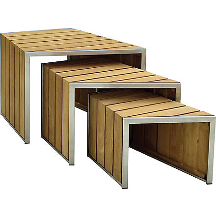 INDIAN OCEAN Elliott nest tables (Teak