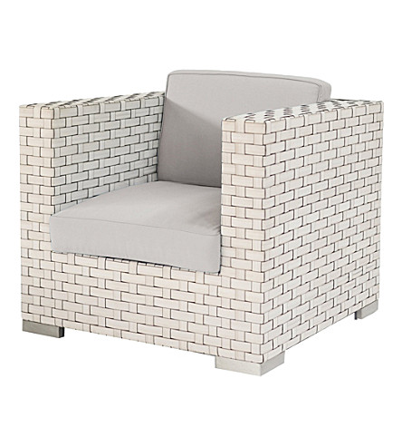 INDIAN OCEAN Monte Carlo armchair (White shell & grey