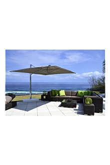 INDIAN OCEAN Cuba modular outdoor sofa set with parasol