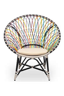 INDIAN OCEAN Multi-coloured radial chair