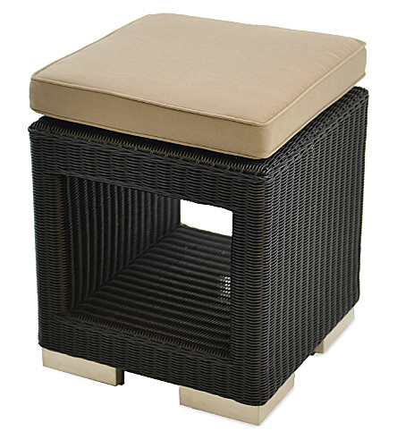 INDIAN OCEAN Cuba stool (Black+&+cappuccino