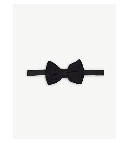 SANDRO Knitted bow tie (Marine