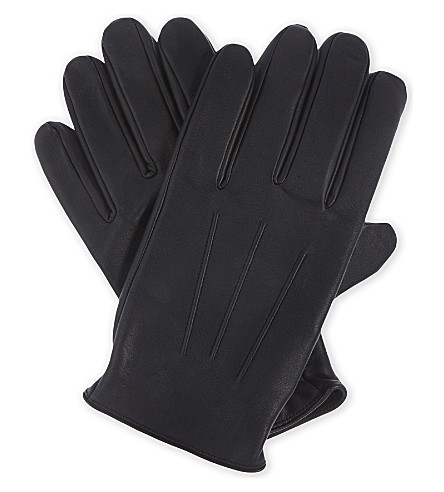 SANDRO H17 classic leather gloves (Black