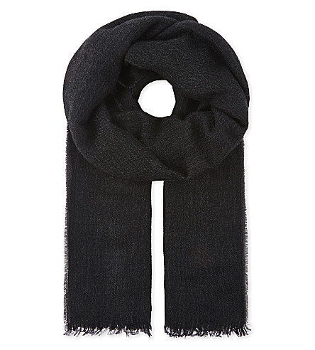 SANDRO Reversible scarf (Black