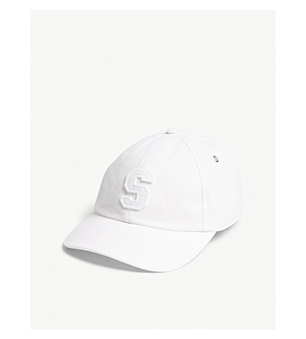 SANDRO Felt S cotton strapback cap (Marine