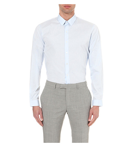 SANDRO Regular-fit cotton shirt (Multi-coloured