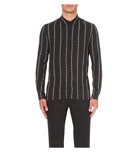 SANDRO Chain-print woven shirt (Black
