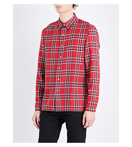 SANDRO London checked regular-fit shirt (Red