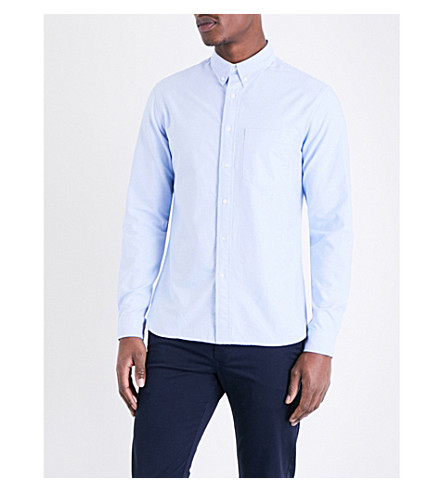 SANDRO Regular-fit cotton shirt (Sky+blue