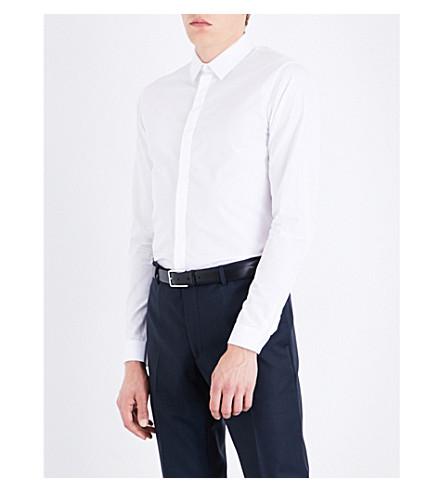 SANDRO Slim-fit cotton shirt (Blanc