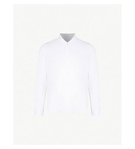 SANDRO Zip-detail cotton shirt (White