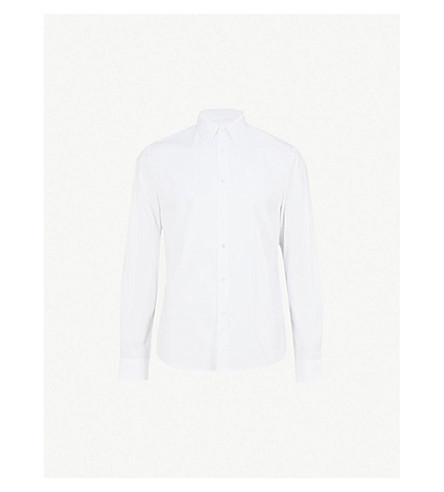 SANDRO Regular-fit cotton shirt (White