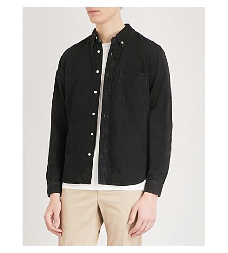 SANDRO Regular-fit denim shirt (Black