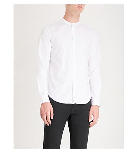 SANDRO SANDRO Band shirt White fit cotton shirt regular fit regular cotton collar White collar Band Ix4w4rg0q