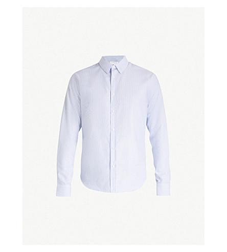 SANDRO Striped regular-fit cotton Oxford shirt (Blue