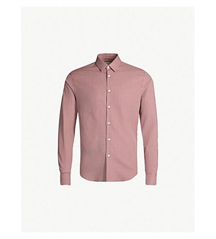 SANDRO 经典适合格纹棉质衬衫 (勃艮第