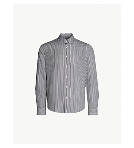 SANDRO 条纹棉质衬衫 (白色 + + 黑色