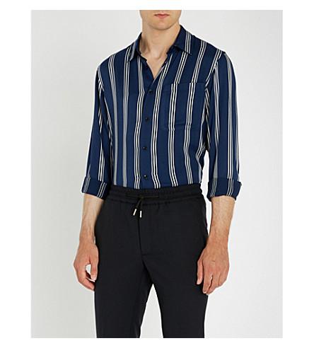 SANDRO 常规版型条纹编织衬衫 (海运