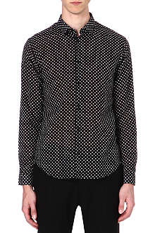 SANDRO Polka-dot slim-fit shirt