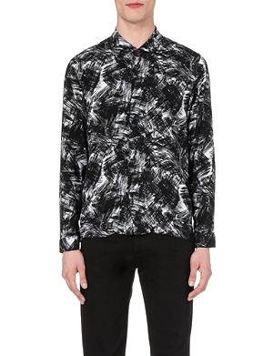 SANDRO Brushstroke-print shirt