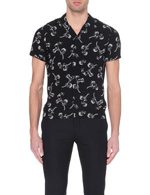 SANDRO Palm tree-print shirt