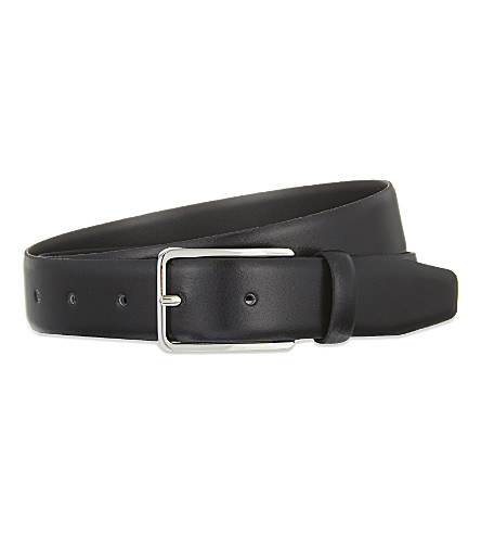SANDRO Thin leather belt (Black