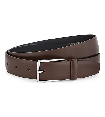 SANDRO Leather belt (Brown