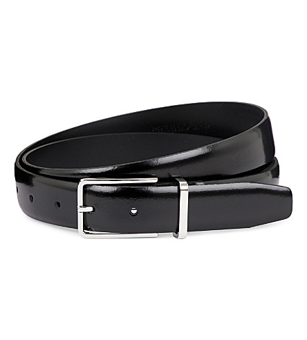 SANDRO Patent leather belt (Black