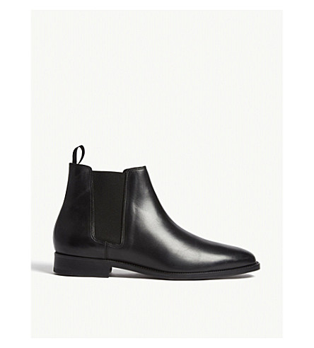 SANDRO Leather Chelsea boots (Black