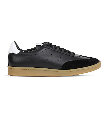 SANDRO SX-01 leather lace-up trainers (Black