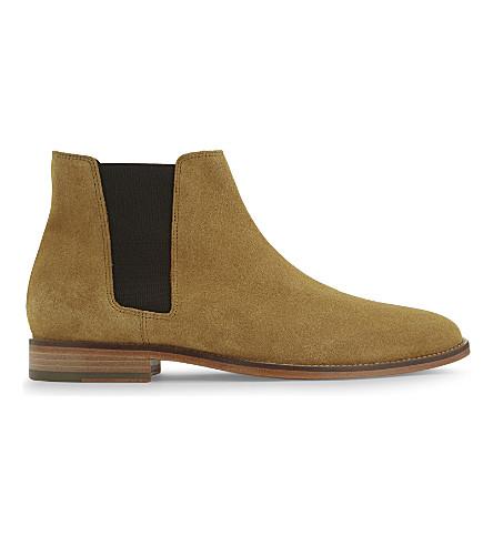 SANDRO Suede Chelsea boots (Beige
