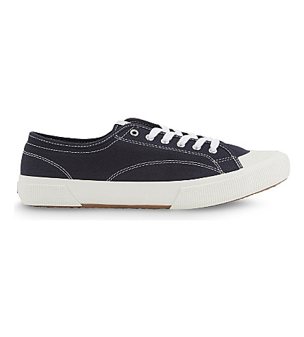 SANDRO Canvas trainers (Navy+blue