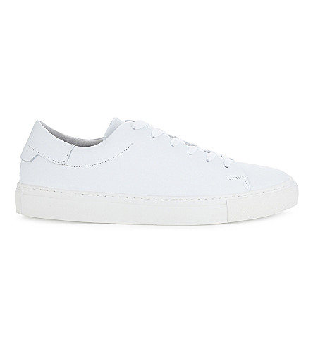 SANDRO Orbital leather trainers (Blanc