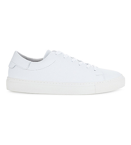 SANDRO Orbital leather trainers (White