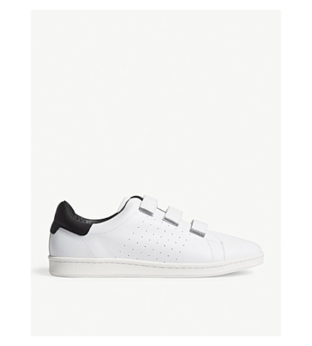 SANDRO Low-top leather trainers (White