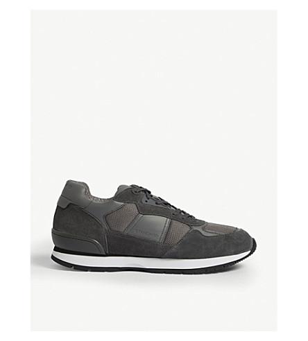 SANDRO 绒面革运行运动鞋 (灰色