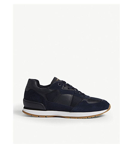Suede running trainers(74-10081-CH1522W)