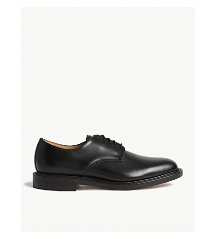 SANDRO H17 leather Derby shoes (Black