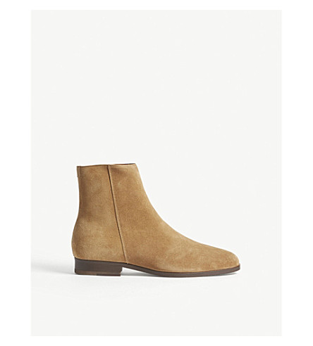 SANDRO E18 Blake suede ankle boots (Beige