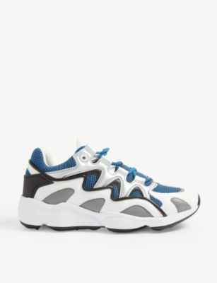 Atomic leather and mesh trainers(7831671)
