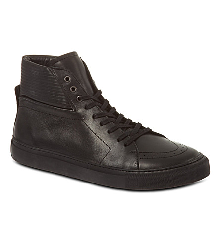 SANDRO Cha Vision high-top trainers (Black