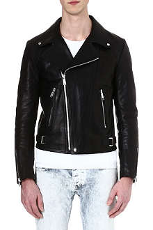 SANDRO Leather biker jacket
