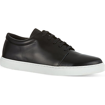 SANDRO Low-top leather trainers (Black