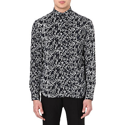 SANDRO Abstract print shirt (Black