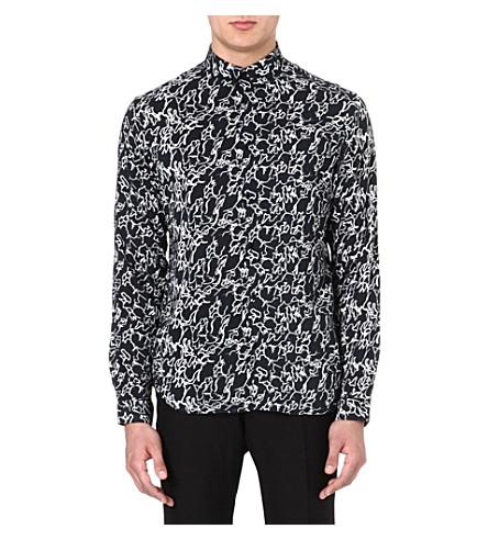 SANDRO Abstract print shirt (Black