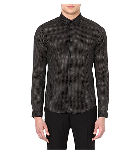 SANDRO Polka-dot shirt (Black