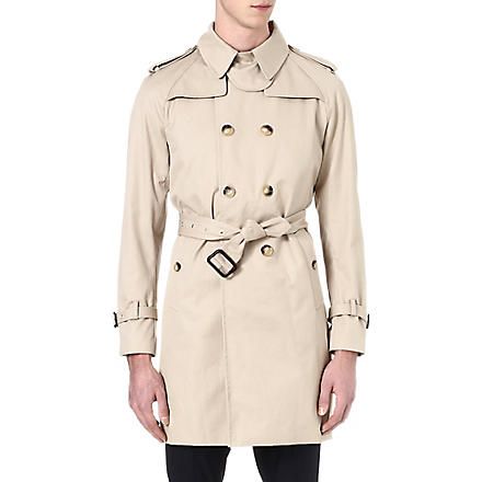 SANDRO Cotton trench coat (Beige